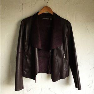 Bagatelle Purple faux leather jacket Large